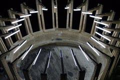 Κατασκευή στην αλυκή Turda αλατισμένων ορυχείων και μουσείων Στοκ Εικόνες