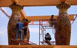 Κατασκευή στο δημοφιλή βουδιστικό ναό Wat Phrathat Doi Suthep (วั พระธภ² ตุ à¸à¸¢à¸ªà¸¸à ¹ €à¸-พ) Στοκ Φωτογραφία