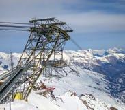 Κατασκευή στυλοβατών ανελκυστήρων στοκ φωτογραφία με δικαίωμα ελεύθερης χρήσης