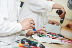 Κατασκευή συγκέντρωσης μικροτσίπ Στοκ φωτογραφία με δικαίωμα ελεύθερης χρήσης