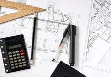 κατασκευή σχεδιαγραμμά& Στοκ φωτογραφία με δικαίωμα ελεύθερης χρήσης