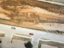 Κατασκευή της ανυψωμένης εθνικής οδού υπό εξέλιξη στο Χιούστον, Τέξας, στοκ φωτογραφίες με δικαίωμα ελεύθερης χρήσης