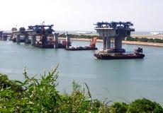 Κατασκευή της γέφυρας της Hong kong-Zhuhai-Μακάο στοκ φωτογραφίες