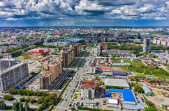 Κατασκευή της κατοικημένης περιοχής σε Tyumen Στοκ Εικόνες