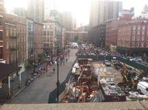 Κατασκευή της λεπτότερης περιοχής NYC στοκ φωτογραφία