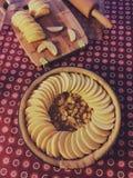κατασκευή της πίτας Στοκ φωτογραφία με δικαίωμα ελεύθερης χρήσης
