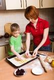 κατασκευή της πίτας Στοκ εικόνα με δικαίωμα ελεύθερης χρήσης