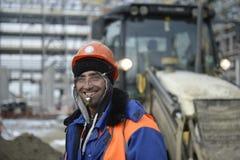 Κατασκευή της πετροχημικής βιομηχανίας στη Ρωσία Εγκαταστάσεις ` ZapSibNeftehim ` Sibur Τουρκικός εργαζόμενος Tobolsk στοκ φωτογραφίες με δικαίωμα ελεύθερης χρήσης