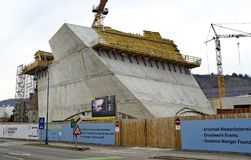 Κατασκευή της Shell μιας νέας στοάς Στοκ φωτογραφίες με δικαίωμα ελεύθερης χρήσης