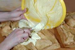 Κατασκευή του κέικ Στοκ εικόνες με δικαίωμα ελεύθερης χρήσης