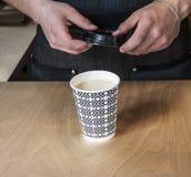 Κατασκευή του καφέ Στοκ εικόνες με δικαίωμα ελεύθερης χρήσης