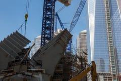 Κατασκευή του World Trade Center, Νέα Υόρκη Στοκ Εικόνες