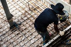 κατασκευή τούβλων που βάζει υπαίθρια την περιοχή Επικίνδυνη περιοχή και τοπ έννοια άποψης στοκ εικόνες με δικαίωμα ελεύθερης χρήσης