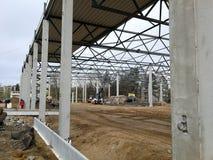 κατασκευή τούβλων που βάζει υπαίθρια την περιοχή Στοκ εικόνες με δικαίωμα ελεύθερης χρήσης