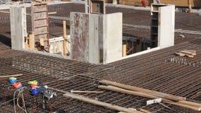 κατασκευή τούβλων που βάζει υπαίθρια την περιοχή φιλμ μικρού μήκους