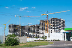 κατασκευή τούβλων που βάζει υπαίθρια την περιοχή Στοκ Φωτογραφίες