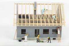 Κατασκευή των εξοχικών σπιτιών Στοκ εικόνα με δικαίωμα ελεύθερης χρήσης