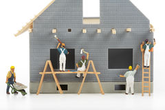 Κατασκευή των εξοχικών σπιτιών Στοκ φωτογραφίες με δικαίωμα ελεύθερης χρήσης