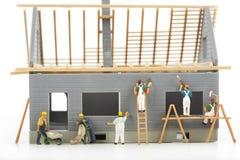 Κατασκευή των εξοχικών σπιτιών Στοκ Εικόνες