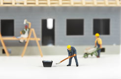Κατασκευή των εξοχικών σπιτιών Στοκ Εικόνα
