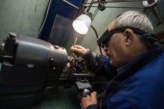 Κατασκευή των μερών για τα ρολόγια Στοκ Εικόνες