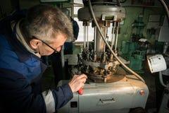 Κατασκευή των μερών για τα ρολόγια Στοκ Φωτογραφίες