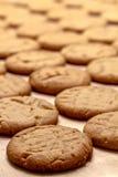 Κατασκευή των μπισκότων φυστικοβουτύρου Στοκ Εικόνες