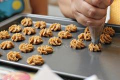 Κατασκευή των μπισκότων Στοκ εικόνα με δικαίωμα ελεύθερης χρήσης