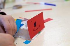Κατασκευή των ρομπότ παιδιών ` s Στοκ Εικόνα