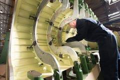 Κατασκευή των ρωσικών ελικοπτέρων στο εργοστάσιο αεροσκαφών Στοκ εικόνες με δικαίωμα ελεύθερης χρήσης