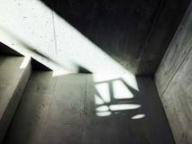 Κατασκευή των συγκεκριμένων σκαλοπατιών κάτω από τις οικοδομές Στοκ Εικόνες