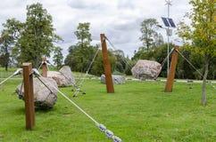 Κατασκευή των σχοινιών χάλυβα και της πέτρας στοκ φωτογραφία με δικαίωμα ελεύθερης χρήσης