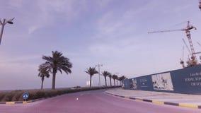 Κατασκευή των σύγχρονων ξενοδοχείων στο τεχνητό βίντεο μήκους σε πόδηα αποθεμάτων Jumeirah φοινικών αρχιπελαγών φιλμ μικρού μήκους