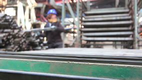 Κατασκευή των τούβλων και των φραγμών απόθεμα βίντεο