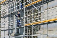Κατασκευή υλικών σκαλωσιάς στη Μαδρίτη Στοκ εικόνα με δικαίωμα ελεύθερης χρήσης
