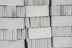 Κατασκευή φραγμών τούβλου Στοκ Φωτογραφίες