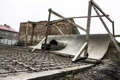 Κατασκευή Skatepark Στοκ φωτογραφία με δικαίωμα ελεύθερης χρήσης