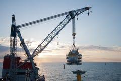κατασκευή windfarm Στοκ φωτογραφίες με δικαίωμα ελεύθερης χρήσης