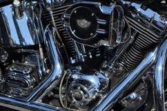 Κατασκευασθείσα επί παραγγελία μοτοσικλέτα του Harley Davidson Στοκ φωτογραφία με δικαίωμα ελεύθερης χρήσης