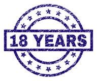 Κατασκευασμένα 18 ΕΤΗ σφραγίδων γραμματοσήμων Grunge Διανυσματική απεικόνιση