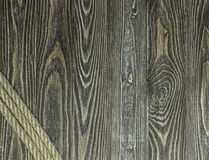 Κατασκευασμένα σανίδες και σχοινί πεύκων Στοκ Εικόνα