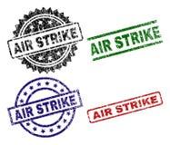 Κατασκευασμένες σφραγίδες γραμματοσήμων ΑΠΕΡΓΊΑΣ AIR Grunge απεικόνιση αποθεμάτων