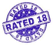 Κατασκευασμένη ΕΚΤΙΜΗΜΕΝΗ σφραγίδα 18 γραμματοσήμων Grunge Διανυσματική απεικόνιση