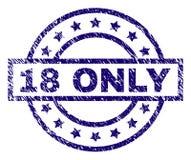 Κατασκευασμένη ΜΟΝΟ σφραγίδα γραμματοσήμων 18 Grunge Απεικόνιση αποθεμάτων