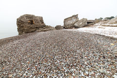 Κατασκευασμένη παραλία πετρών χαλικιών Στοκ εικόνα με δικαίωμα ελεύθερης χρήσης