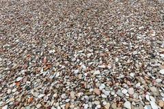 Κατασκευασμένη παραλία πετρών χαλικιών Στοκ φωτογραφίες με δικαίωμα ελεύθερης χρήσης
