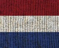 Κατασκευασμένη σημαία μαλλιού - Κάτω Χώρες Στοκ φωτογραφία με δικαίωμα ελεύθερης χρήσης