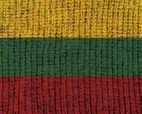 Κατασκευασμένη σημαία μαλλιού - Λιθουανία Στοκ Φωτογραφία