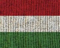 Κατασκευασμένη σημαία μαλλιού - Ουγγαρία Στοκ εικόνες με δικαίωμα ελεύθερης χρήσης