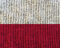 Κατασκευασμένη σημαία μαλλιού - Πολωνία Στοκ Εικόνες